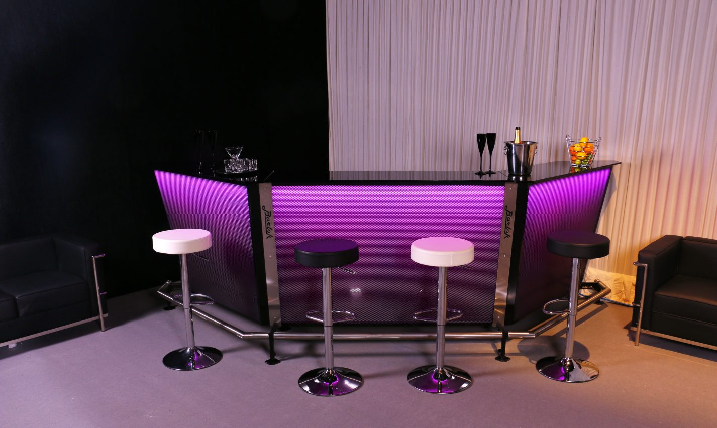 Portable Bar Barlock purple wedding