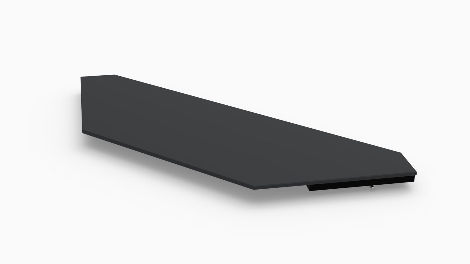 Barlok® Inverted Corner Black Acrylic Bar Top x 1