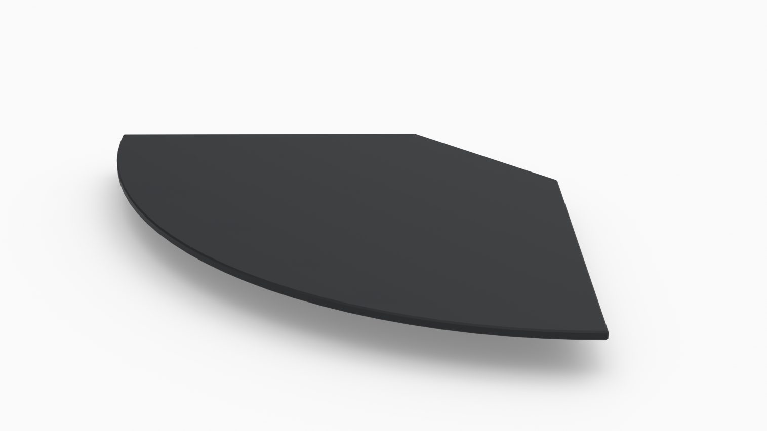 Barlok® Std. Radius Black Acrylic Bar Top x 4