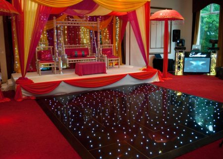 portable floor starlock lights on the floor wedding