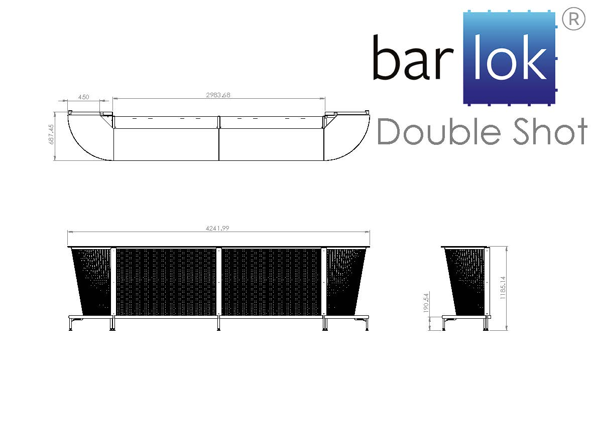 Barlok® Double Shot Line Drawing