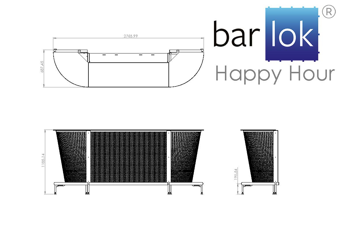 Barlok® Happy Hour Line Drawing