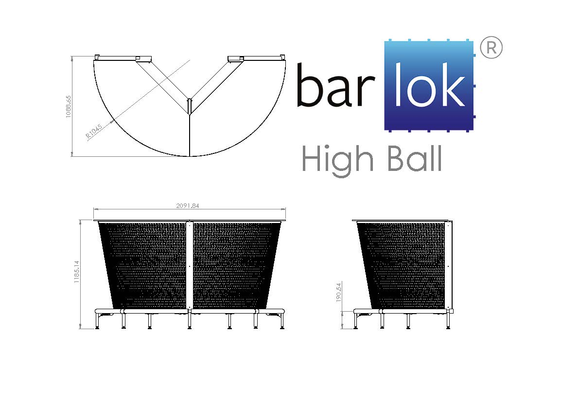 Barlok® High Ball Line Drawing