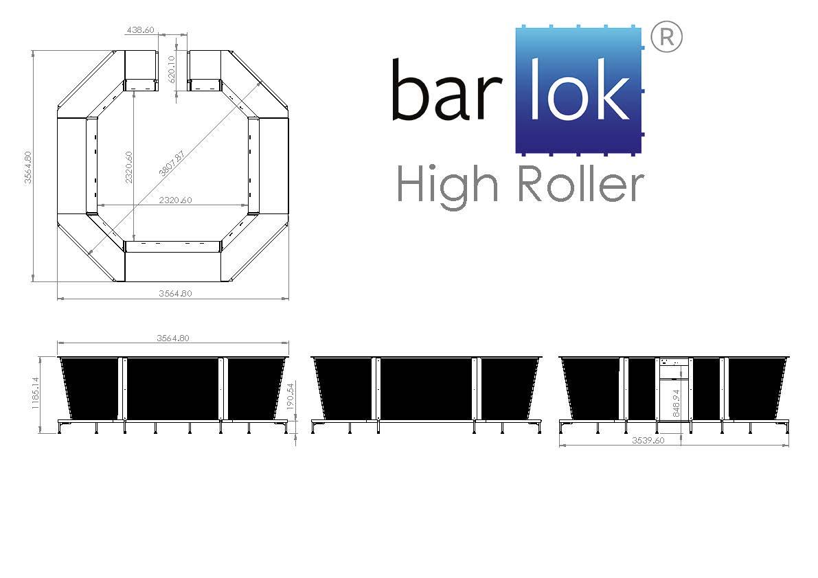 Barlok® High Roller Line Drawing