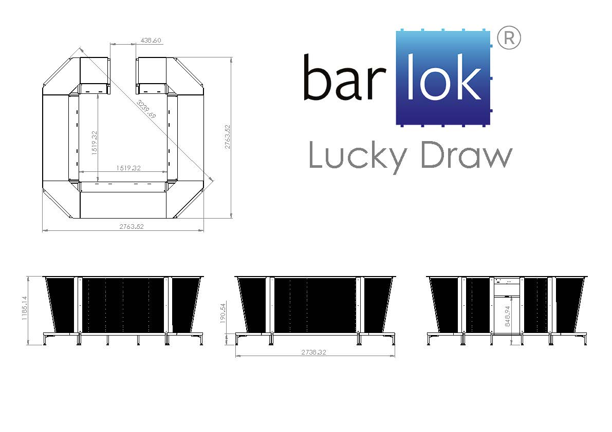 Barlok® Lucky Draw Line Drawing