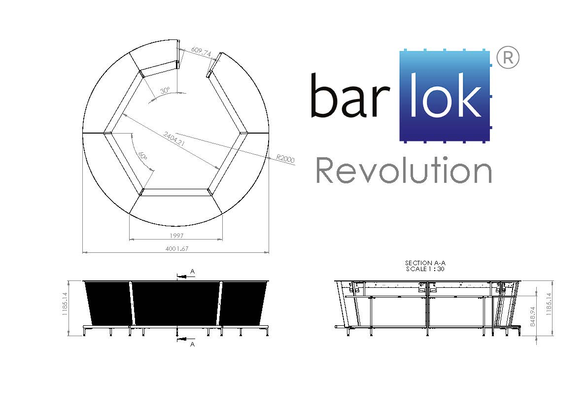Barlok® Revolution Line Drawing
