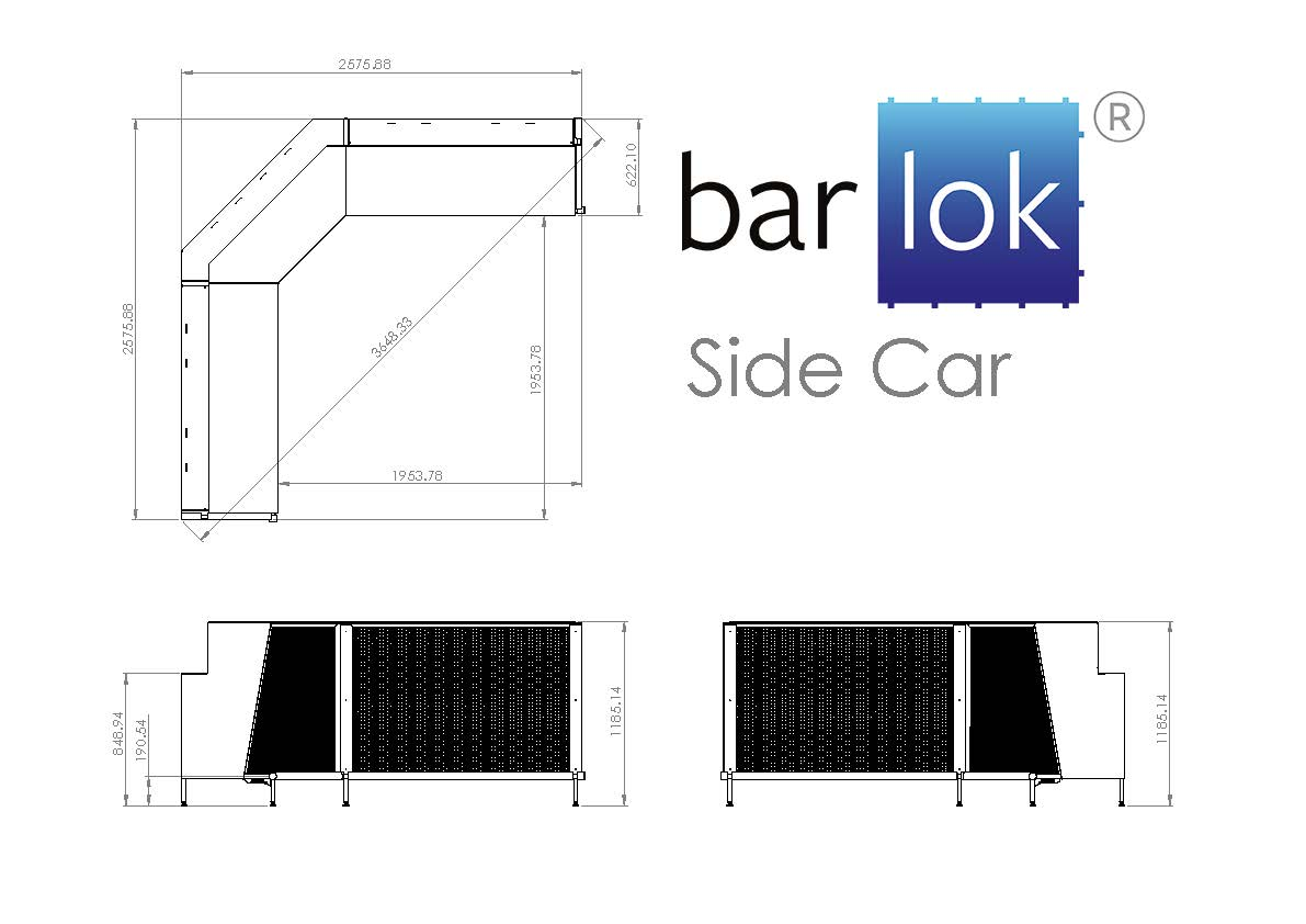 Barlok® Side Car Line Drawing