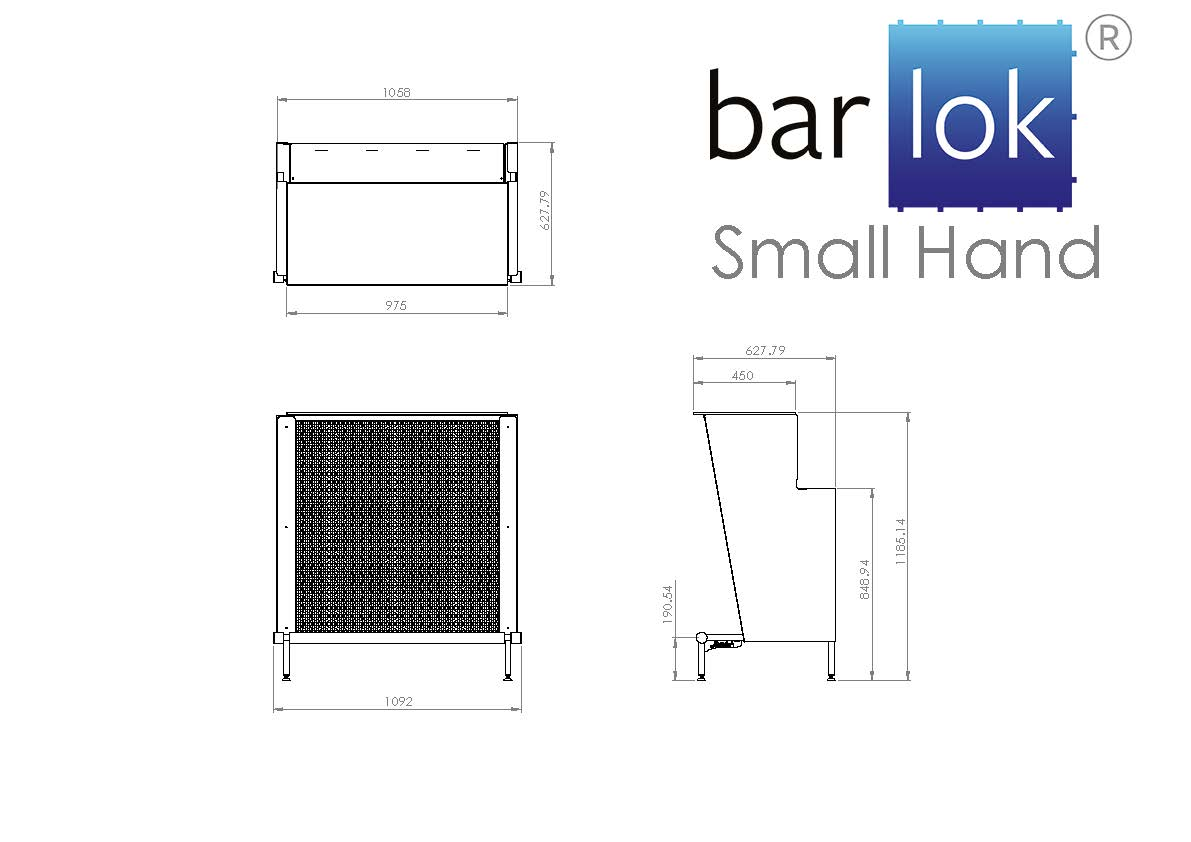 Barlok® Small Hand Line Drawing