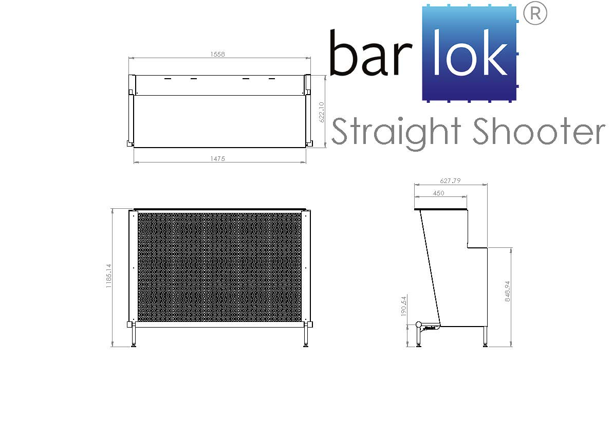 Barlok® Straight Shooter Line Drawing