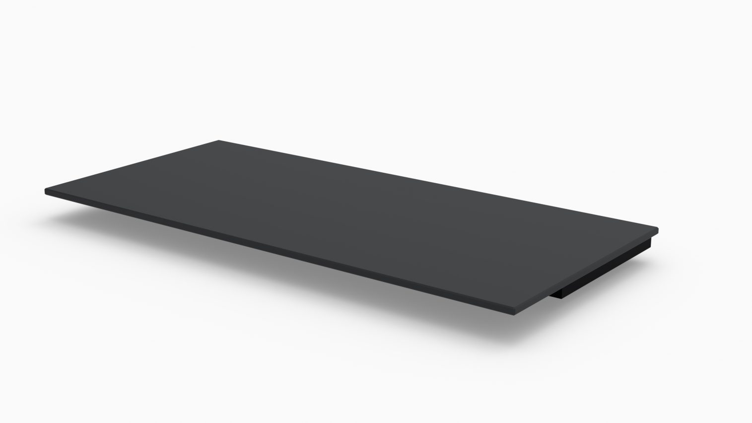Barlok® 1.0m Black Acrylic Bar Top x 1