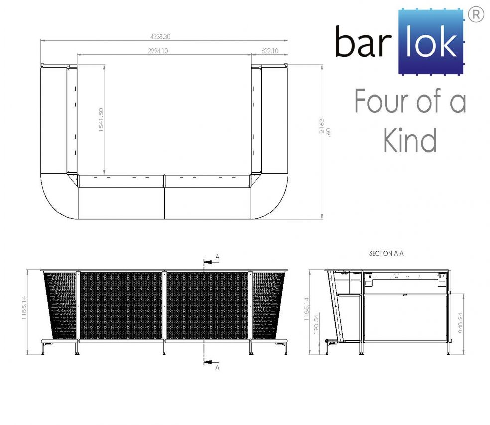 Barlok® Four of a Kind Line Drawing