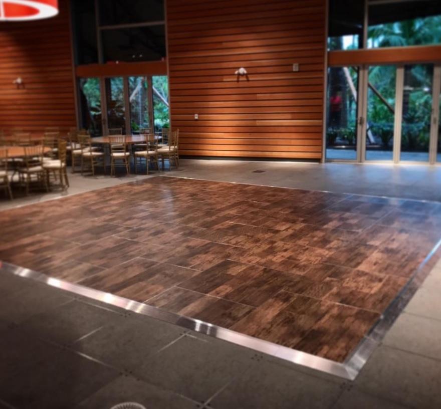 Portable wooden floor